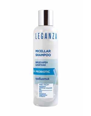 Leganza MICELLAR SHAMPOO+PROBIOTIC - FREE FROM Parabens, Artificial Colours, SLS 200ml