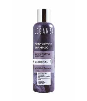 Leganza DETOXIFYING SHAMPOO+CHARCOAL -  FREE FROM Parabens, Artificial Colours, SLS 200ml