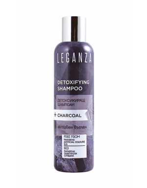 Leganza DETOXIFYING SHAMPOO+CHARCOAL -  FREE FROM Parabens, Artificial Colours, SLS 200ml